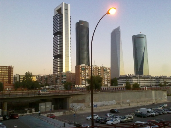 Four office towers in Madrid.