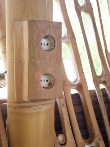 Bamboo veneered electrical outlet